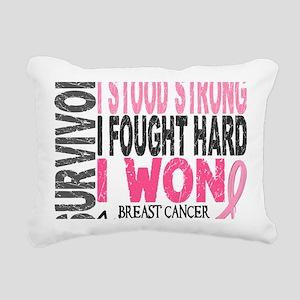 - Survivor 4 Breast Canc Rectangular Canvas Pillow