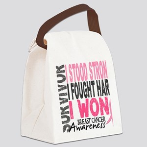 - Survivor 4 Breast Cancer Canvas Lunch Bag
