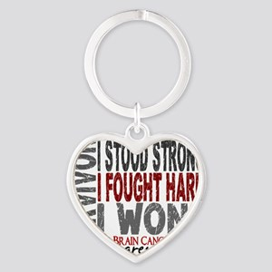 D Survivor 4 Brain Cancer Heart Keychain