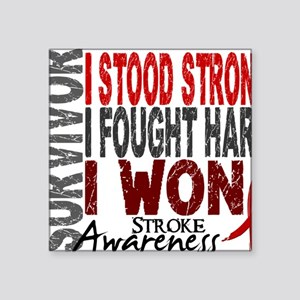 "D Survivor 4 Stroke Square Sticker 3"" x 3"""