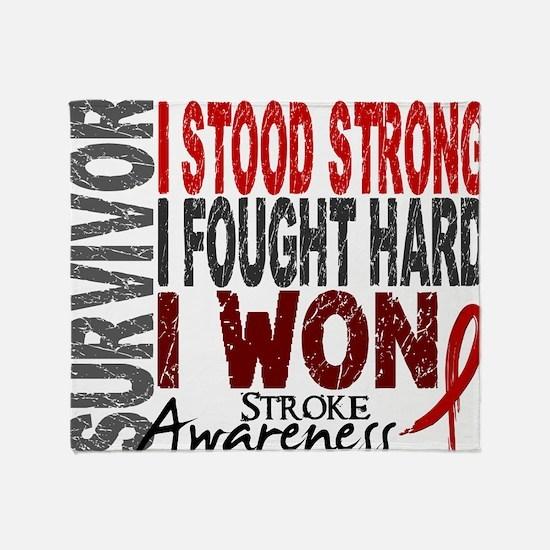 D Survivor 4 Stroke Throw Blanket