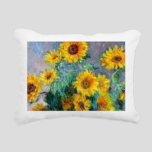 Bag Monet Sunf Rectangular Canvas Pillow