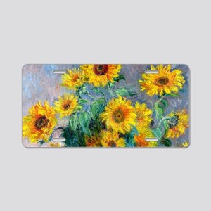 Bag Monet Sunf Aluminum License Plate