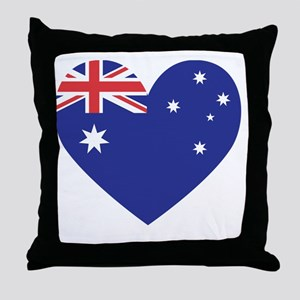 Australian Heart Throw Pillow