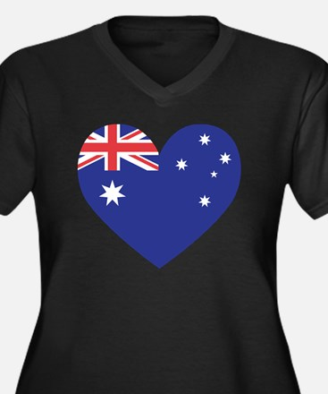 Australian H Women's Plus Size Dark V-Neck T-Shirt