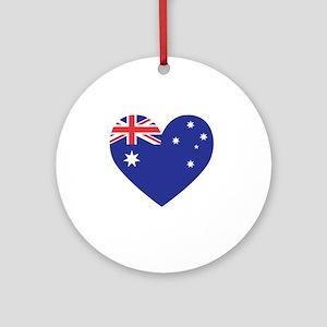 Australian Heart Round Ornament