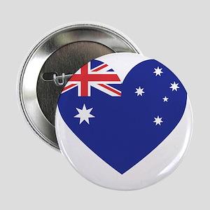 """Australian Heart 2.25"""" Button"""