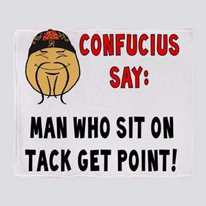 ConfuciusSitOnTack Throw Blanket