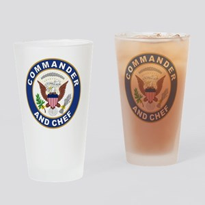 commander and chef Drinking Glass