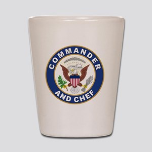 commander and chef Shot Glass
