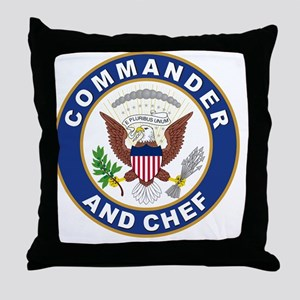 commander and chef Throw Pillow