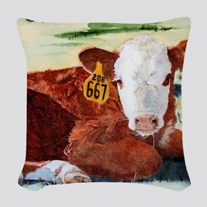puzzcalf Woven Throw Pillow