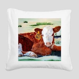 puzzcalf Square Canvas Pillow
