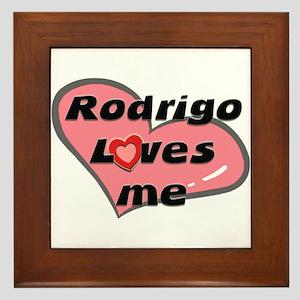 rodrigo loves me  Framed Tile