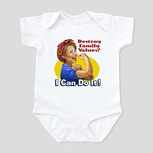 Hillary the Riveter - Family Values? Infant Bodysu