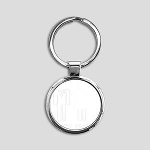 gameoverweddingcoupleshirt4 Round Keychain