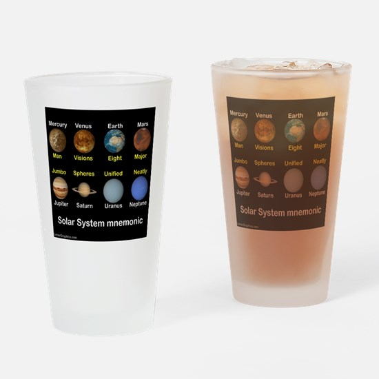 Solar_System_NEWmonic Drinking Glass