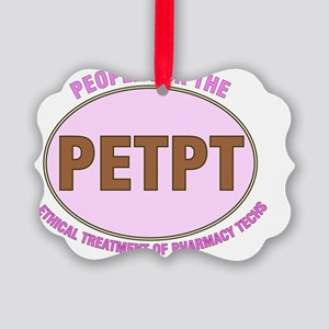 PETPT PINK Picture Ornament