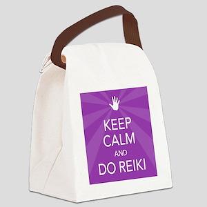 SQ KEEP CALM PURPLE Canvas Lunch Bag