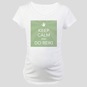 SQ KEEP CALM GREEN Maternity T-Shirt