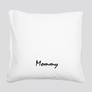 bearded collie mom property w Square Canvas Pillow