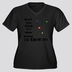 dont_you_thi Women's Plus Size Dark V-Neck T-Shirt