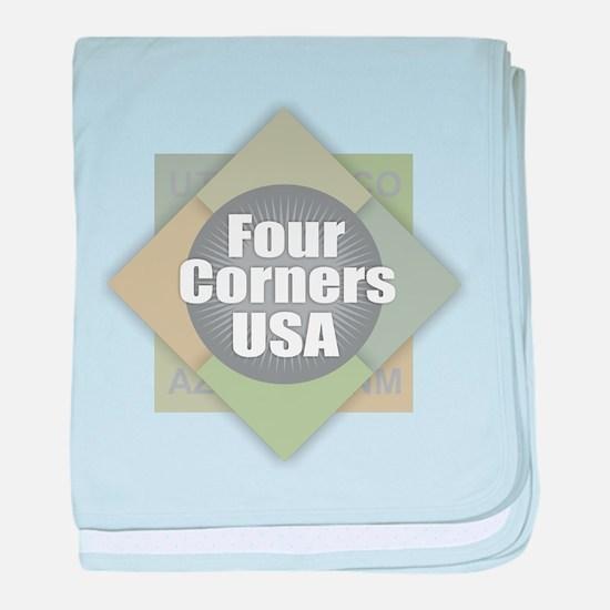 Four Corners baby blanket