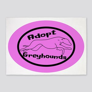 pink sticker 5'x7'Area Rug