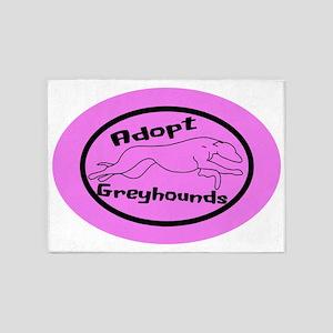 pink sticker 5'x7'Area Rug