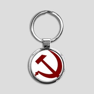 communistback Round Keychain