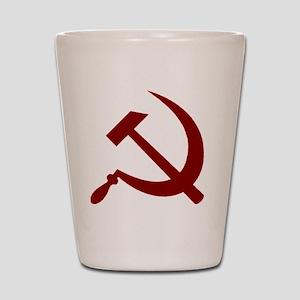 communistback Shot Glass