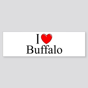"""""""I Love Buffalo"""" Bumper Sticker"""