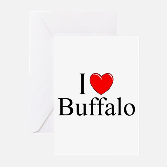 """I Love Buffalo"" Greeting Cards (Pk of 10)"