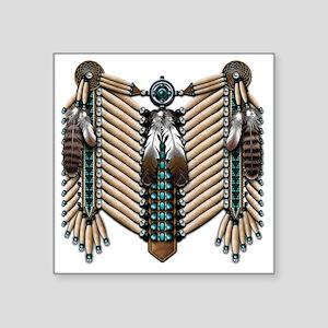"""Native American - Breastpla Square Sticker 3"""" x 3"""""""