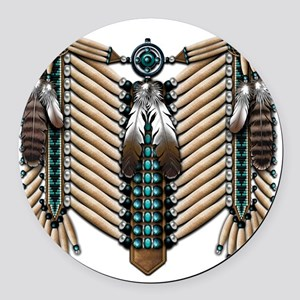 Native American - Breastplates -  Round Car Magnet