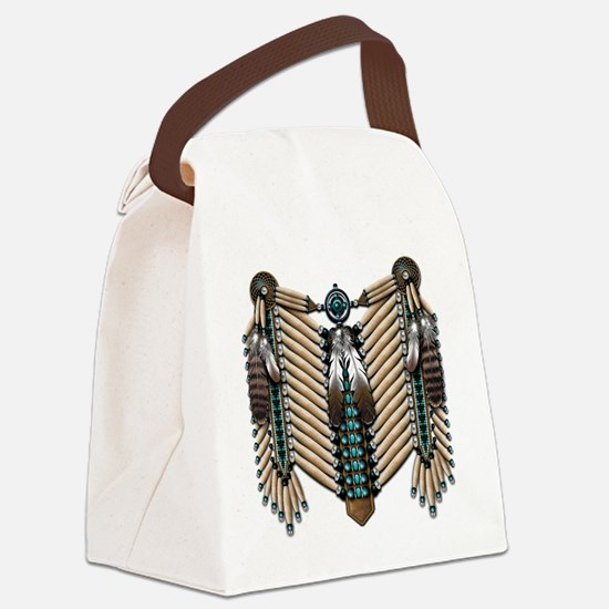 Native American - Breastplates -  Canvas Lunch Bag