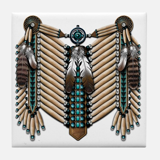Native American - Breastplates - 002 Tile Coaster