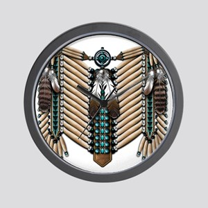 Native American - Breastplates - 002 Wall Clock