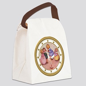 CLOCK Jack Be Nimble Gold Star Canvas Lunch Bag