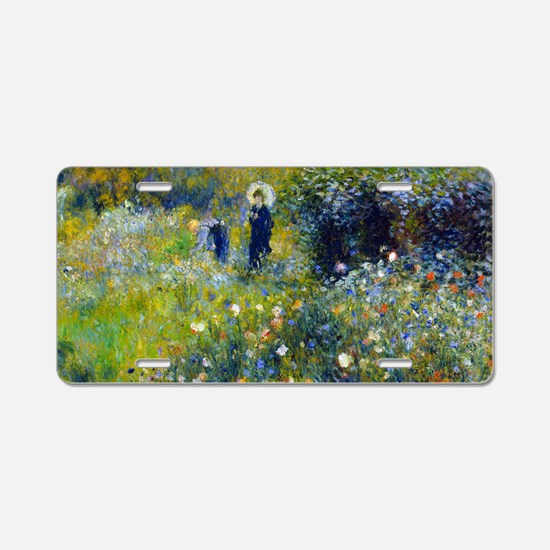 Laptop Renoir Parasol Aluminum License Plate