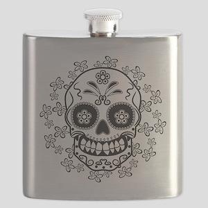 Sugar Skull.B  W Flask