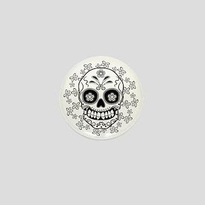 Sugar Skull.B  W Mini Button