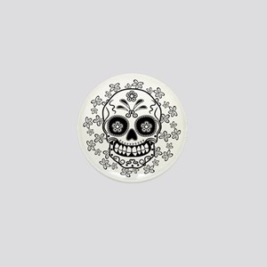 Sugar Skull.B  W Mini Button