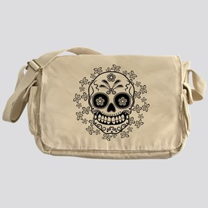 Sugar Skull.B  W Messenger Bag