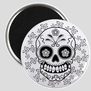 Sugar Skull.B  W Magnet