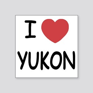 "YUKON Square Sticker 3"" x 3"""