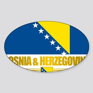 BosniaHerzegovina (Flag 10)2 Sticker (Oval)