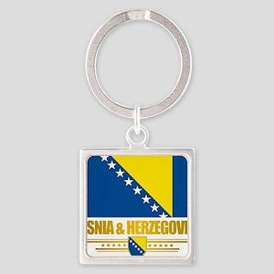 BosniaHerzegovina (Flag 10)2 Square Keychain