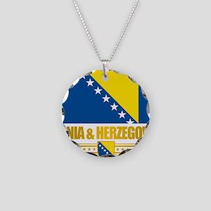 BosniaHerzegovina (Flag 10)2 Necklace Circle Charm