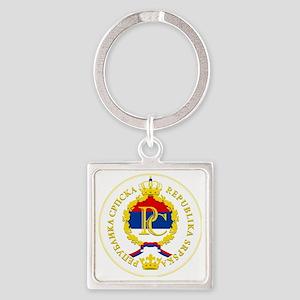Srpska COA Square Keychain